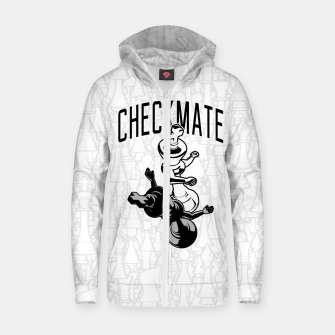 Thumbnail image of Checkmate Punch Funny Boxing Chess Cotton zip up hoodie, Live Heroes