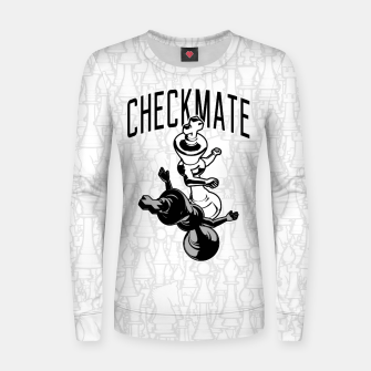 Thumbnail image of Checkmate Punch Funny Boxing Chess Woman cotton sweater, Live Heroes