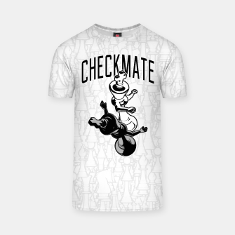 Thumbnail image of Checkmate Punch Funny Boxing Chess T-shirt, Live Heroes