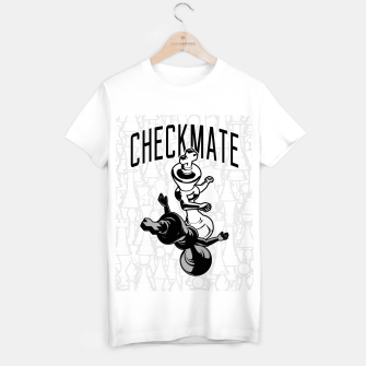 Thumbnail image of Checkmate Punch Funny Boxing Chess T-shirt regular, Live Heroes