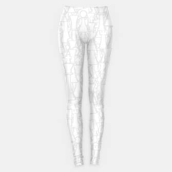 Thumbnail image of Checkmate Punch Funny Boxing Chess Leggings, Live Heroes
