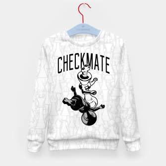 Thumbnail image of Checkmate Punch Funny Boxing Chess Kid's sweater, Live Heroes