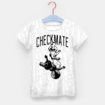Thumbnail image of Checkmate Punch Funny Boxing Chess Kid's t-shirt, Live Heroes