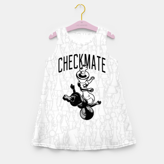 Thumbnail image of Checkmate Punch Funny Boxing Chess Girl's summer dress, Live Heroes