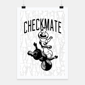 Thumbnail image of Checkmate Punch Funny Boxing Chess Poster, Live Heroes