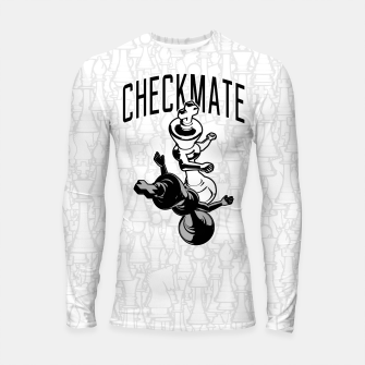 Thumbnail image of Checkmate Punch Funny Boxing Chess Longsleeve rashguard , Live Heroes
