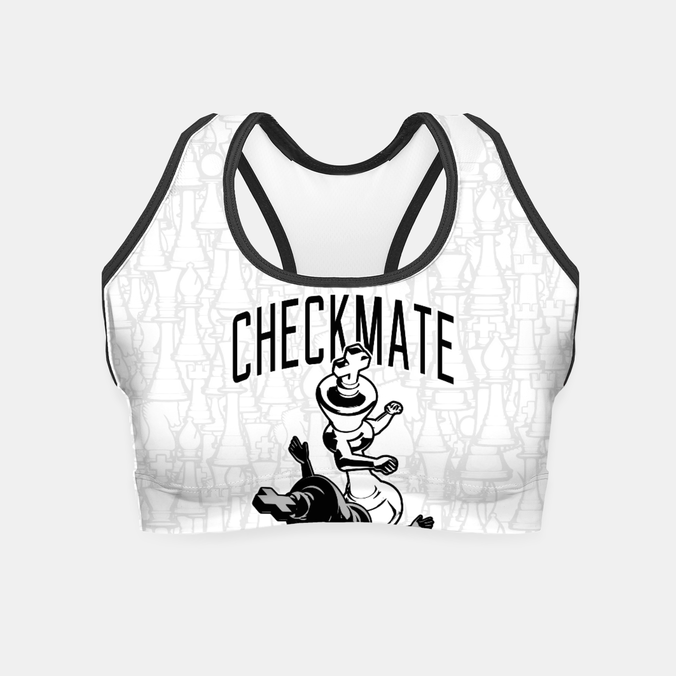 9d86640f8 Checkmate Punch Funny Boxing Chess Crop Top, Live Heroes