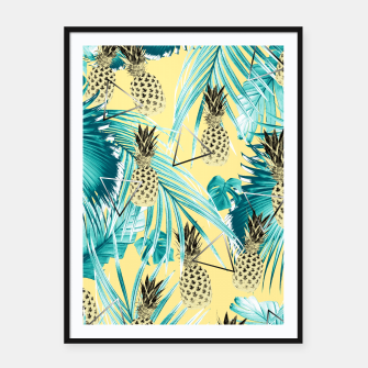 Thumbnail image of Tropical Pineapple Jungle Geo #1 #tropical #summer #decor #art Plakat mit rahmen, Live Heroes