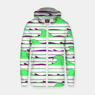 Thumbnail image of Olas Pistacho / Morado Cotton zip up hoodie, Live Heroes
