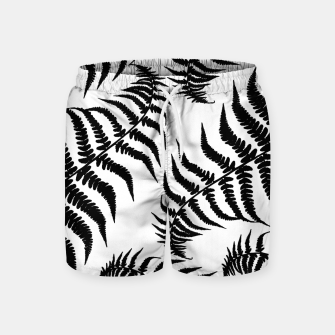Thumbnail image of Fern Leaves Pattern - Black Dream #1 #ornamental #decor #art Badeshorts, Live Heroes