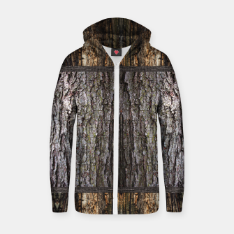 Thumbnail image of Abstract Wood Bark texture Cotton zip up hoodie, Live Heroes