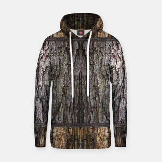 Thumbnail image of Abstract Wood Bark texture Cotton hoodie, Live Heroes