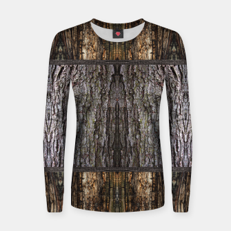 Thumbnail image of Abstract Wood Bark texture Woman cotton sweater, Live Heroes