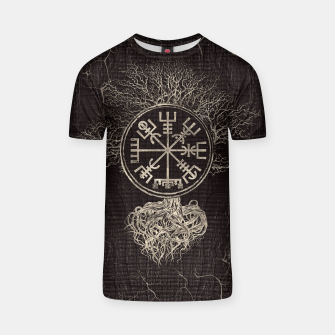 Thumbnail image of Vegvisir  and Tree of life  -Yggdrasil  T-shirt, Live Heroes