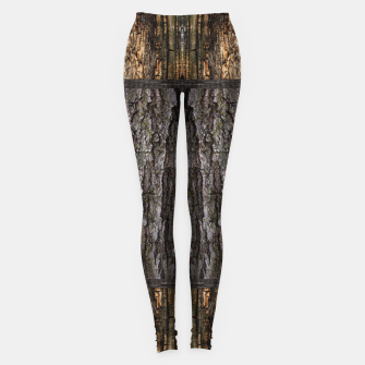 Thumbnail image of Abstract Wood Bark texture Leggings, Live Heroes