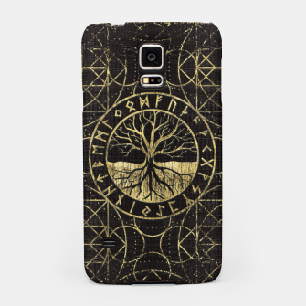 Thumbnail image of Tree of life  -Yggdrasil and  Runes  Samsung Case, Live Heroes