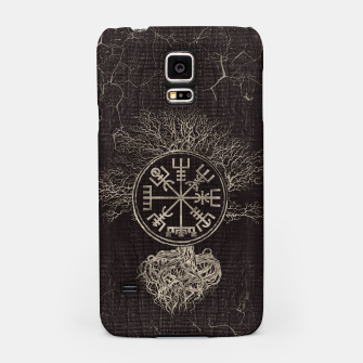 Thumbnail image of Vegvisir  and Tree of life  -Yggdrasil  Samsung Case, Live Heroes