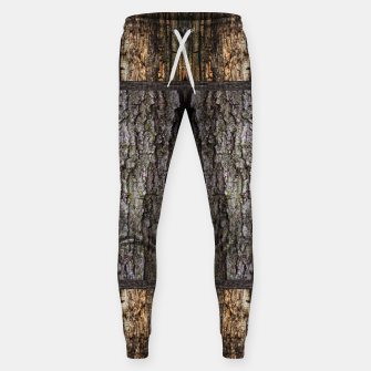 Thumbnail image of Abstract Wood Bark texture Cotton sweatpants, Live Heroes