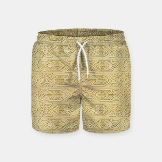 Thumbnail image of Golden Celtic Pattern on canvas texture Swim Shorts, Live Heroes