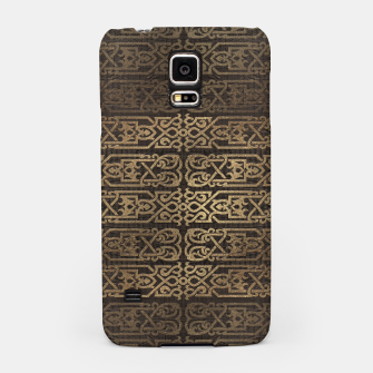 Thumbnail image of Golden Celtic Pattern on wooden texture Samsung Case, Live Heroes