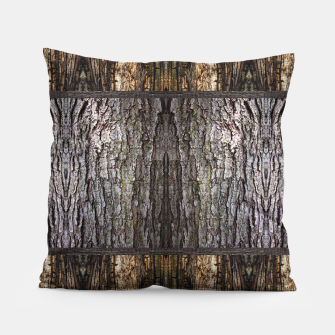 Thumbnail image of Abstract Wood Bark texture Pillow, Live Heroes