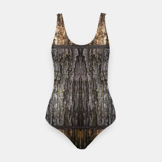 Thumbnail image of Abstract Wood Bark texture Swimsuit, Live Heroes