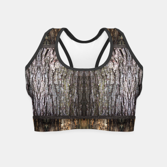 Thumbnail image of Abstract Wood Bark texture Crop Top, Live Heroes