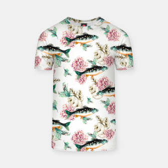 Thumbnail image of Fish in a sea of flowers Camiseta, Live Heroes