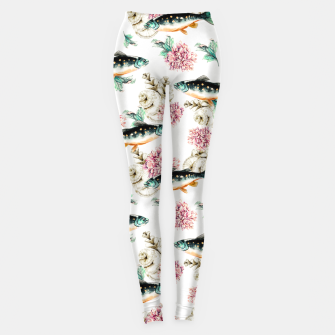 Thumbnail image of Fish in a sea of flowers Leggings, Live Heroes