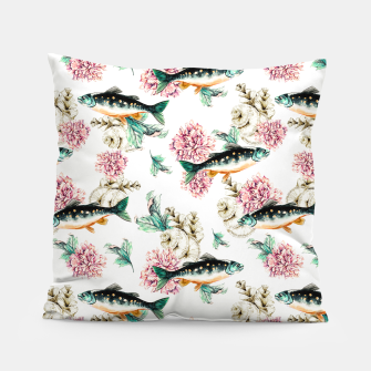 Thumbnail image of Fish in a sea of flowers Almohada, Live Heroes