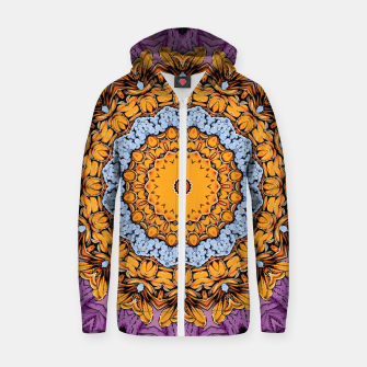 Miniatur Joyful Mandala Cotton zip up hoodie, Live Heroes