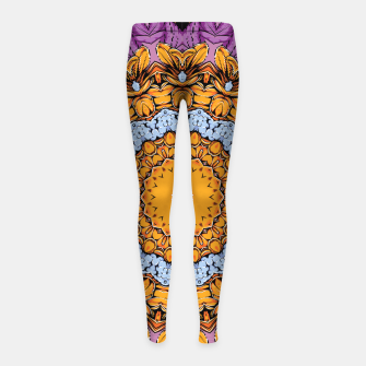 Miniatur Joyful Mandala Girl's leggings, Live Heroes