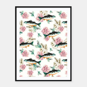 Thumbnail image of Fish in a sea of flowers Cartel con marco, Live Heroes