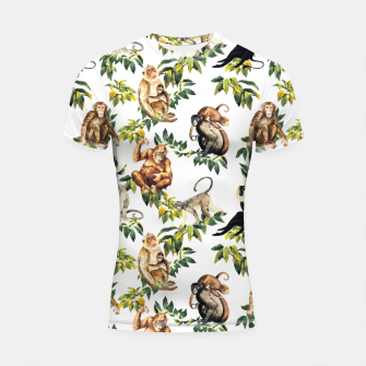 Monkeys, orangutans and more Shortsleeve rashguard thumbnail image