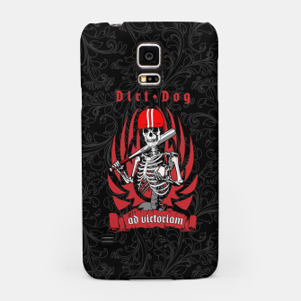 Thumbnail image of Dirt Dog Baseball Player Skeleton Samsung Case, Live Heroes