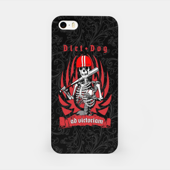 Miniatur Dirt Dog Baseball Player Skeleton iPhone Case, Live Heroes