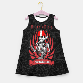 Thumbnail image of Dirt Dog Baseball Player Skeleton Girl's summer dress, Live Heroes
