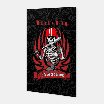 Thumbnail image of Dirt Dog Baseball Player Skeleton Canvas, Live Heroes