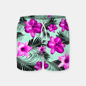 Miniaturka Tropical Flowers Palm Leaves Finesse #9 #tropical #decor #art Badeshorts, Live Heroes