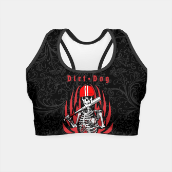 Thumbnail image of Dirt Dog Baseball Player Skeleton Crop Top, Live Heroes