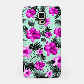 Tropical Flowers Palm Leaves Finesse #9 #tropical #decor #art Handyhülle für Samsung Bild der Miniatur