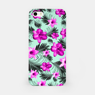 Tropical Flowers Palm Leaves Finesse #9 #tropical #decor #art iPhone-Hülle Bild der Miniatur