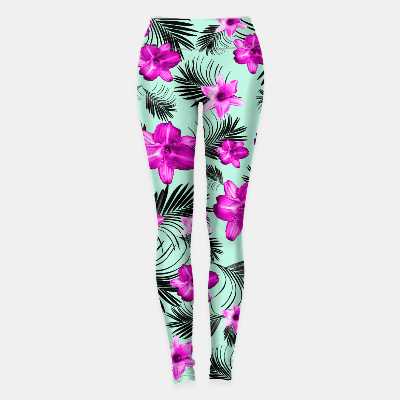 Foto Tropical Flowers Palm Leaves Finesse #9 #tropical #decor #art Leggings - Live Heroes