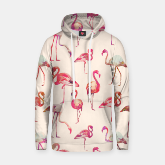 Thumbnail image of Flamingo Happiness Cotton hoodie, Live Heroes