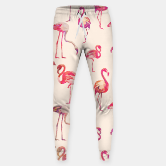 Thumbnail image of Flamingo Happiness Cotton sweatpants, Live Heroes