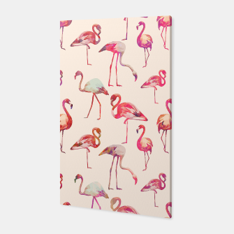 Thumbnail image of Flamingo Happiness Canvas, Live Heroes