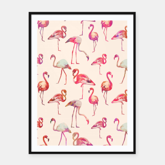 Thumbnail image of Flamingo Happiness Framed poster, Live Heroes