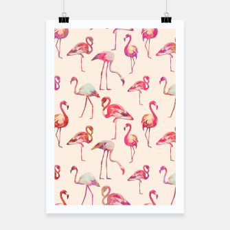 Thumbnail image of Flamingo Happiness Poster, Live Heroes