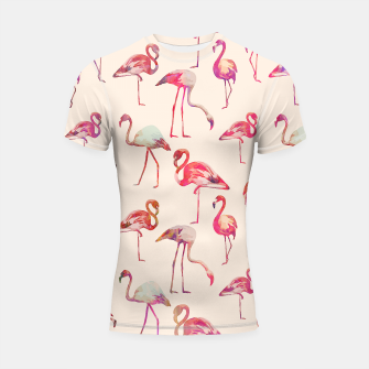 Thumbnail image of Flamingo Happiness Shortsleeve rashguard, Live Heroes