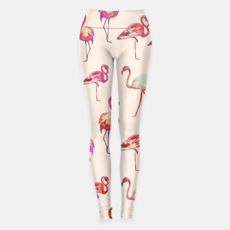 Thumbnail image of Flamingo Happiness Leggings, Live Heroes